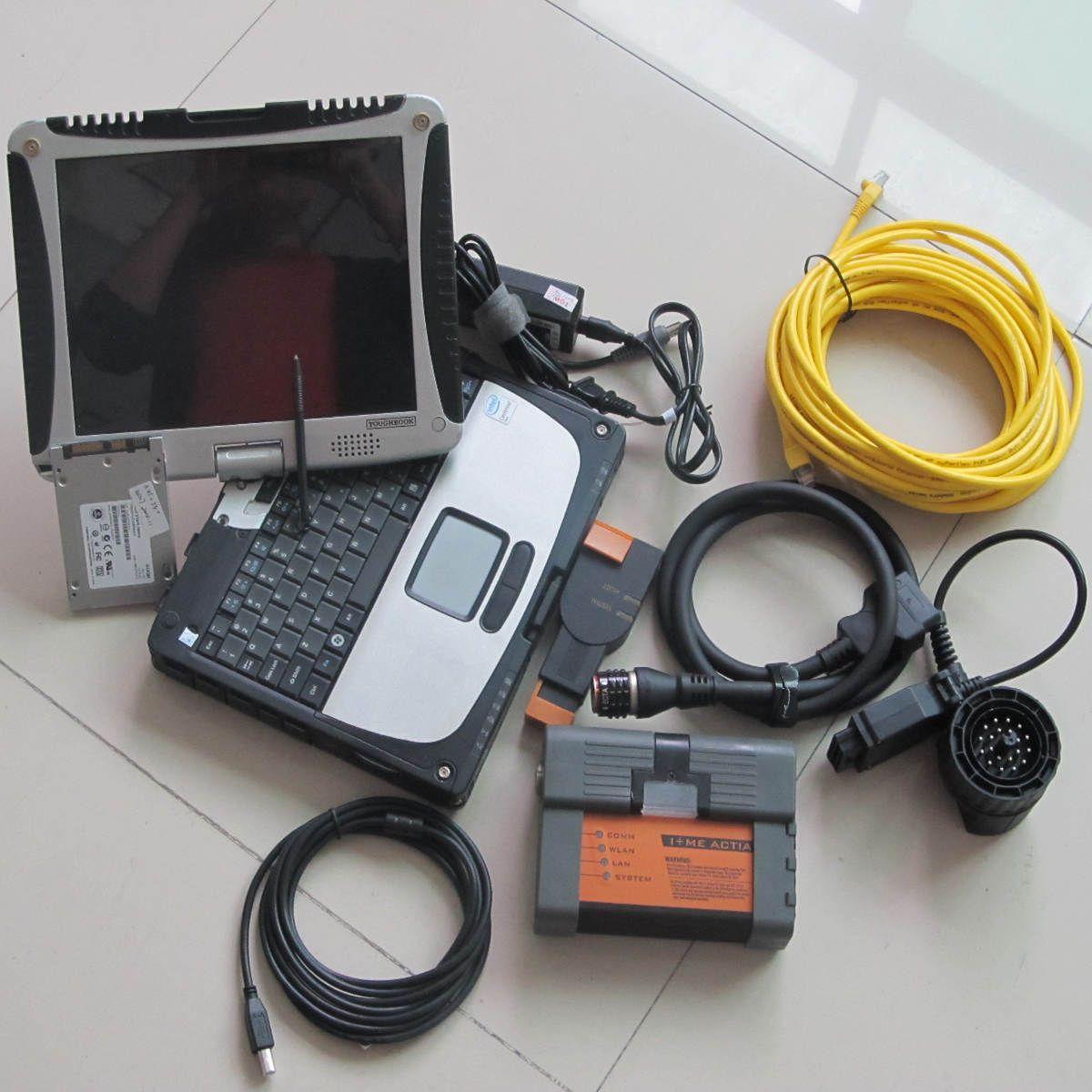 Para el probador de diagnóstico bmw icom a2 b c 3in1 con computadora portátil CF-19 4g i5 480GB modo experto en multi idiomas