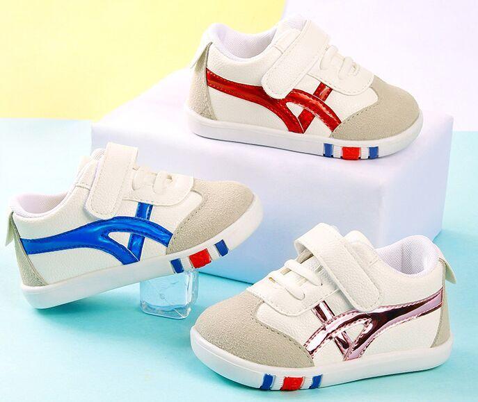 New Meninos Bebés Meninas Criança Sapatos infantil Sneakers recém-nascido suave inferior primeira caminhada antiderrapante Moda Calçados Infantis