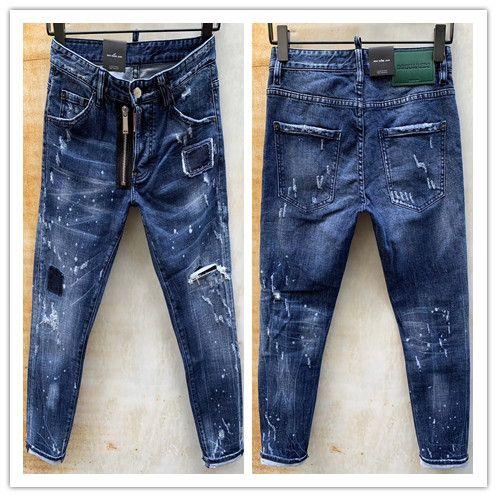 2020 nueva marca de pantalones vaqueros ocasionales de los hombres americanos, el lavado de alto grado, moler a mano puro Europea de moda y, optimización de la calidad LT976