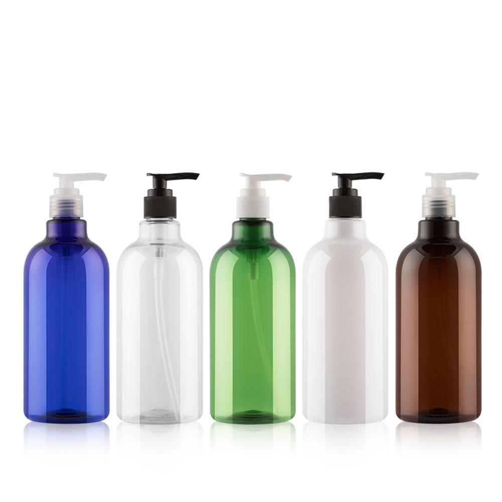 12шт 500мл Душ бутылки Герметичные пластиковые Сожмите Refillable лосьон Насосы Empty Bottle насос для ванной отеля Home