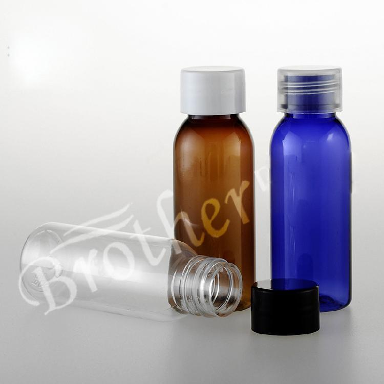 100шт 30мл прозрачные мини-ВИАЛА ясного макияжа пластик ПЭТ пластиковых бутылок путешествие набор контейнеры с винтовой крышкой
