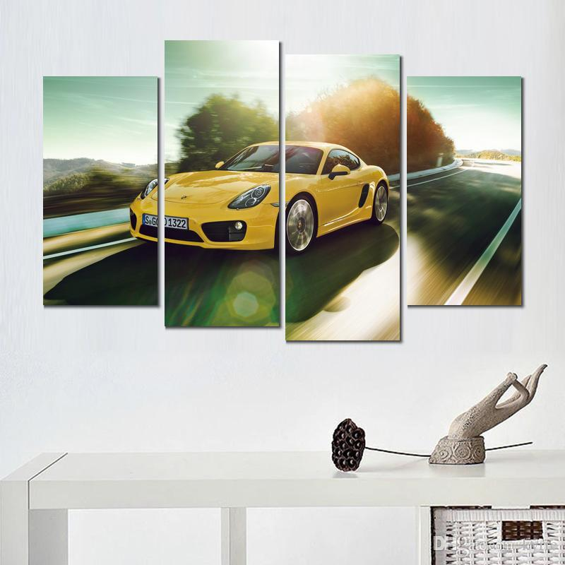 Porsche Cayman SUPER CAR Poster Wall Art Fabric Wall Decor HD Print Multi Sizes