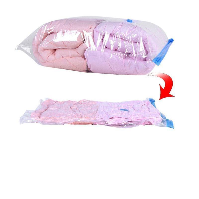 Bolsos de vacío para la ropa de plástico transparente de almacenamiento de equipaje bolsa de armario plegable Extra Grande sello comprimido del organizador del recorrido