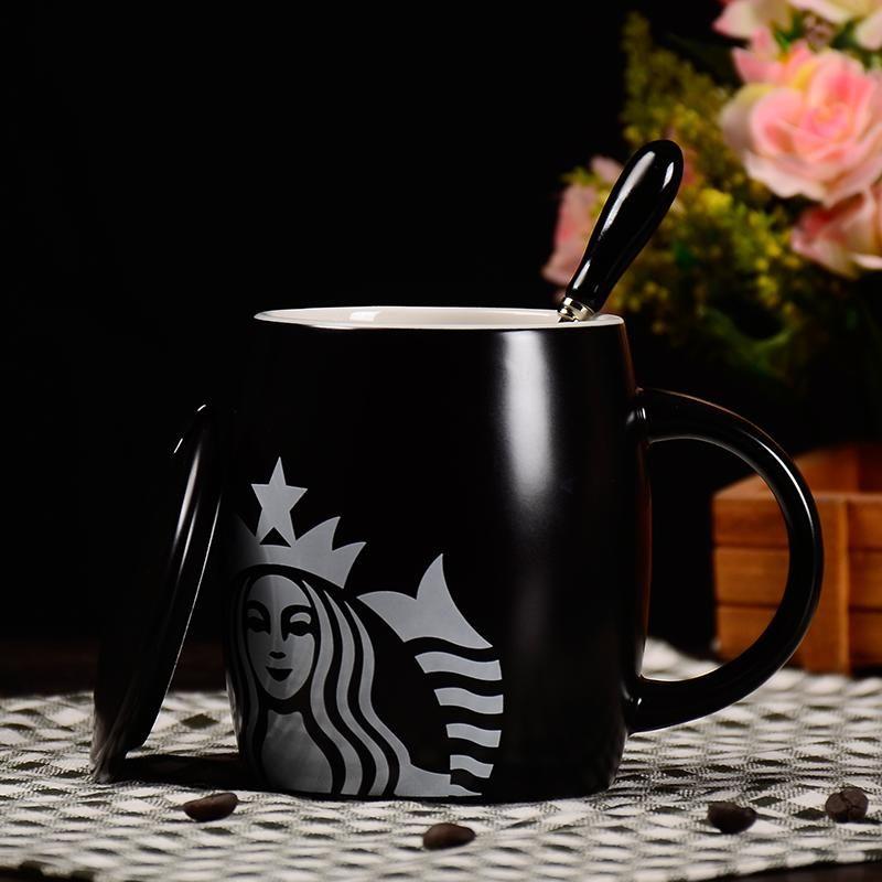 Starbucks Fincan Lüks Öpücük Kupalar Çift Seramik Kupalar Evli Çiftler Yıldönümü Sabah Kupa Süt Kahve Çay Kahvaltı Sevgililer Günü