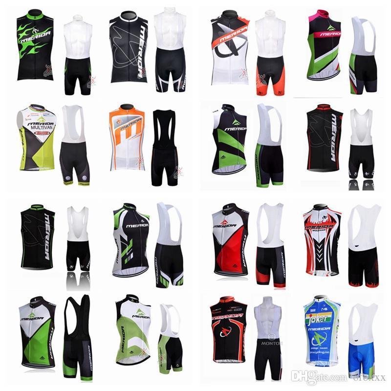 MERIDA ciclismo camisola de manga curta (bib) Shorts sem mangas colete terno 2020 mais recente ropa verão Ciclismo aceitar tamanho combinação C629-54