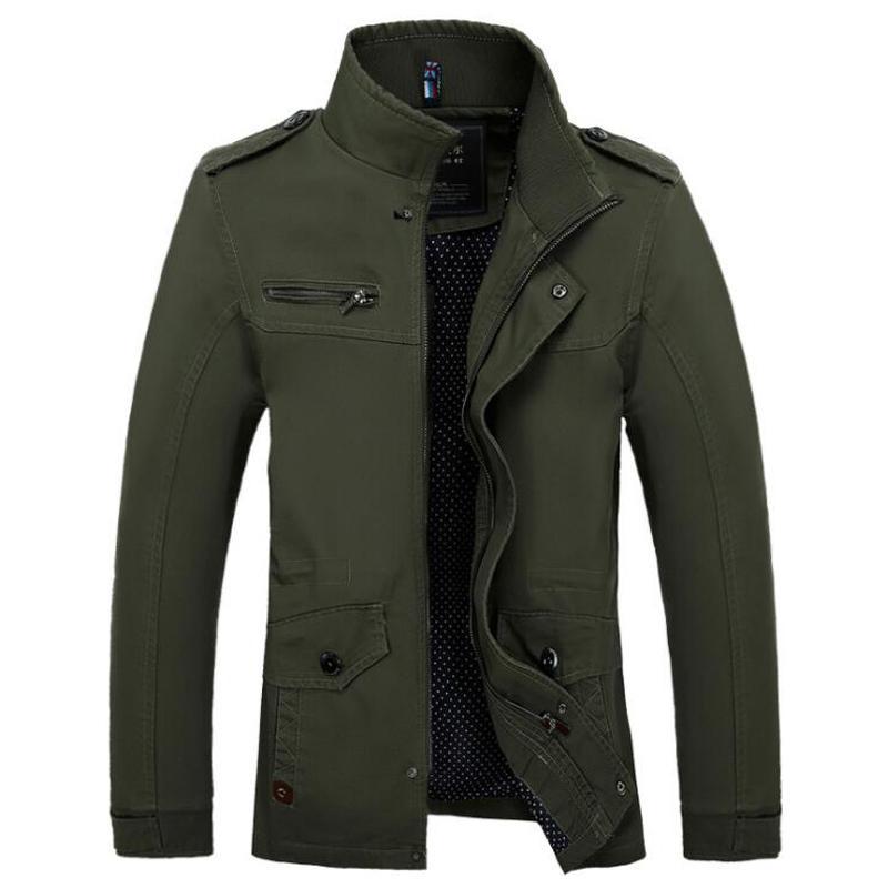 Men Army Jacket Male Washing 111% Cotton Leisure Jacket Mens Autumn Winter VogueCoats Plus Siz 5XL Jaqueta Masculina