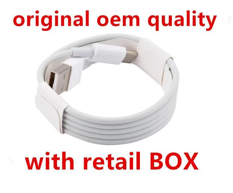 Micro USB V8 Cavo Del Caricatore migliore qualità OEM 1 M 2 m 6FT con L'imballaggio al dettaglio Originale Box per Samsung S7 S8 S9 Huawei P9 8 7 Tipo C Cavo Dati