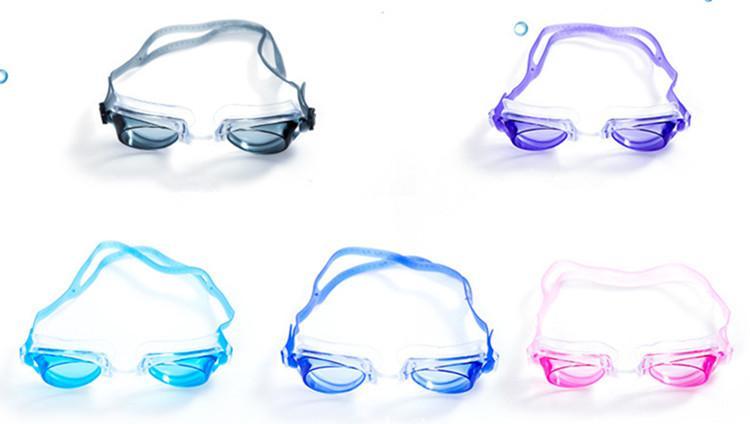 Lunettes de natation avec des bouchons d'oreilles Lunettes de natation claires extérieures Aucune protection anti-fuites anti-UV Lunettes de natation imperméables pour enfants