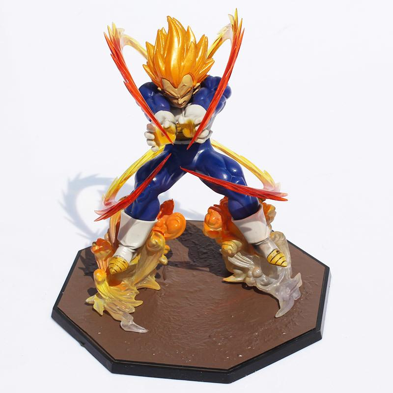 Anime Dragon Ball Z Super Saiyan Vegeta batalla estado Final Flash PVC figura de acción coleccionable modelo de juguete 15 cm Y191105