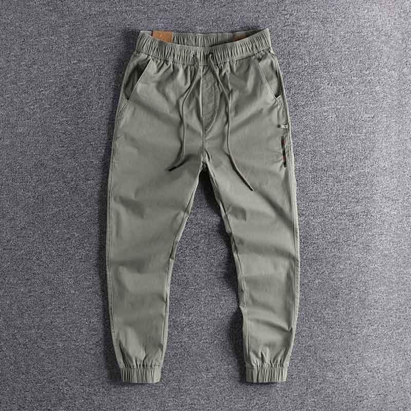 2020 Jambières de sport pour hommes occasionnels avec du coton tissé et tissu de décoration pantalon de haute qualité en gros 0229