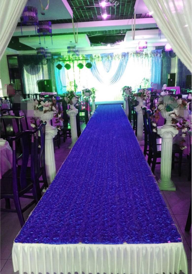 رومانسية 3D روز البتلة السجاد الممر عداء 10M طويلة 1M واسعة على خلفية زفاف يرتكز الحسنات حزب زينة