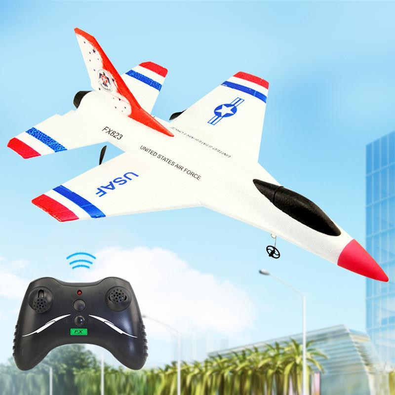 SU35 2.4G Remote Control Fixed Wing Glider, DIY Educational Aircraft Toy, Fall& Impact Resistant EPP Material,for Xmas Kid Birthday Boy Gift