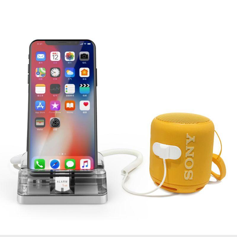 6шт мобильный телефон безопасности стенд акриловый мобильный телефон противоугонное устройство держатель синий смартфон дисплей сигнализация для Apple Store