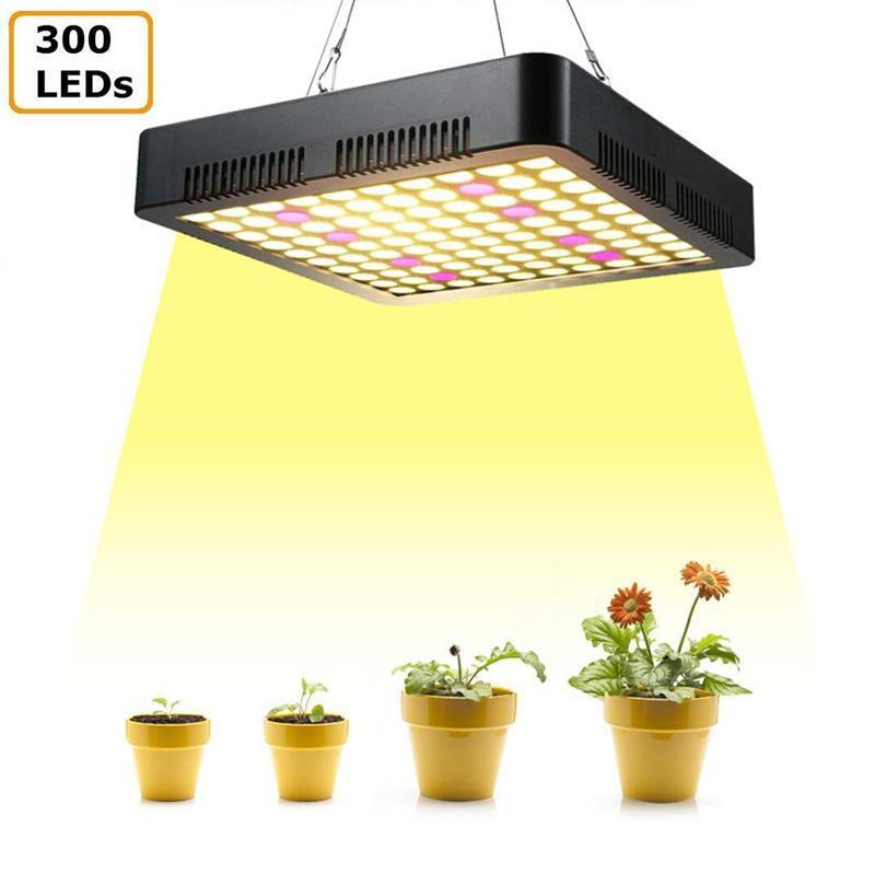 1200W LED poussez la lumière 300Leds Sunshine Plein Spectrum Plant Cuisson Culture AC85-265V Trois copeaux Brillons des éclairages pour plantes d'intérieur Fleurs de légumes