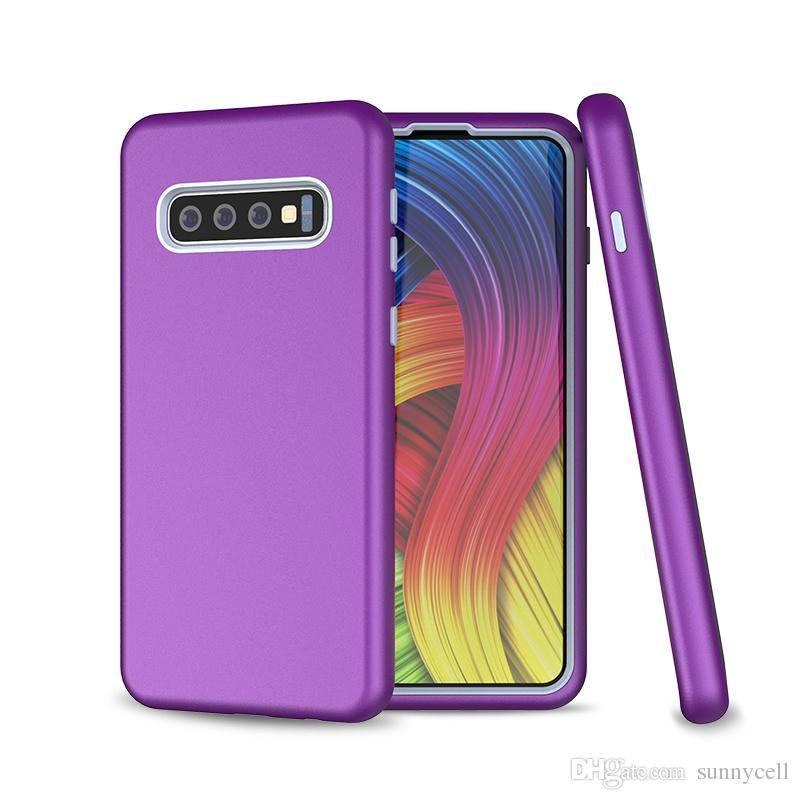 Sıcak Satış Motorola G6 G7 E5 E6 Z3 Z4 Oyna Artı Güç 3 1 Yüksek Kalite Yumuşak TPU Sert PC Combo Darbeye Koruyucu Telefon Kılıfı ...