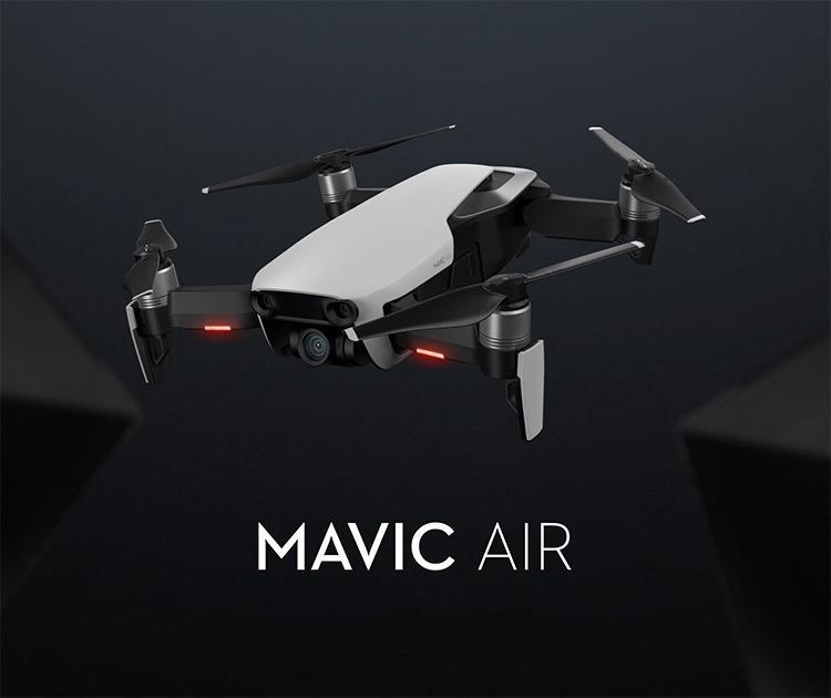 DJI Mavic Air Mavic Air Fly Mehr Combo Gefaltete Drone 4K Kamera 100Mbps Video 3-Achsen Gimbal 21Mins Flugzeit 4km Fernbedienung