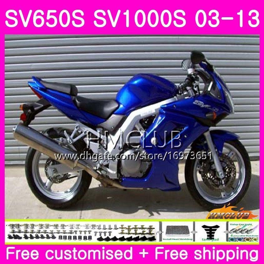 Kropp för SUZUKI SV1000S SV650S 03 04 05 06 07 08 20HM.0 SV650 1000 S SV 650S 1000S 09 10 11 12 13 2003 2004 2005 2013 Fairing Factory Blue