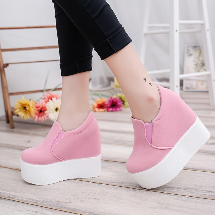 Fairy2019 Slope Women's Waterproof Comfortable Platform Shoes Round Head Flange Flat Bottom High With