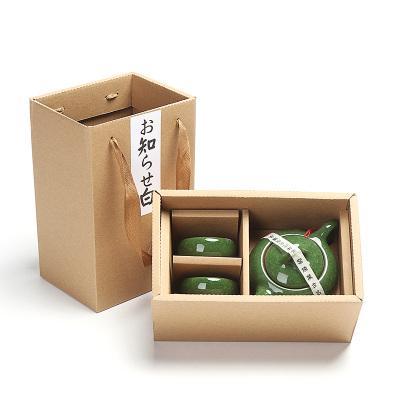 2019 1set Dehua Ceramic Celadon Gift Box Kung Fu Tea Set Small Teapot Cup Ice Cracker Teapot tea cup Travel Set