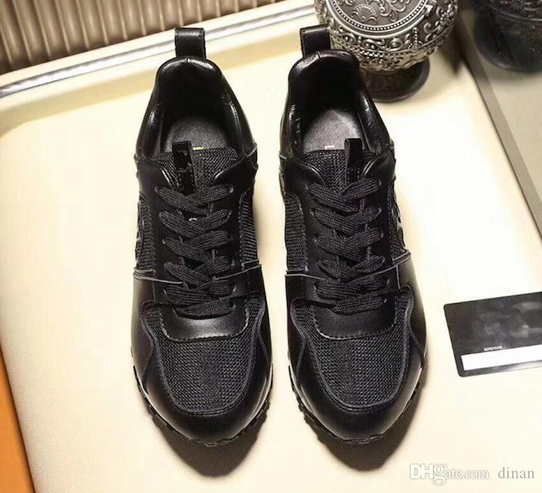18 Großhandel Männer Designer Turnschuhe Frauen Schuhe NEU Luxus Leder Freizeitschuhe Echtleder Mode Mischfarbe Original Box