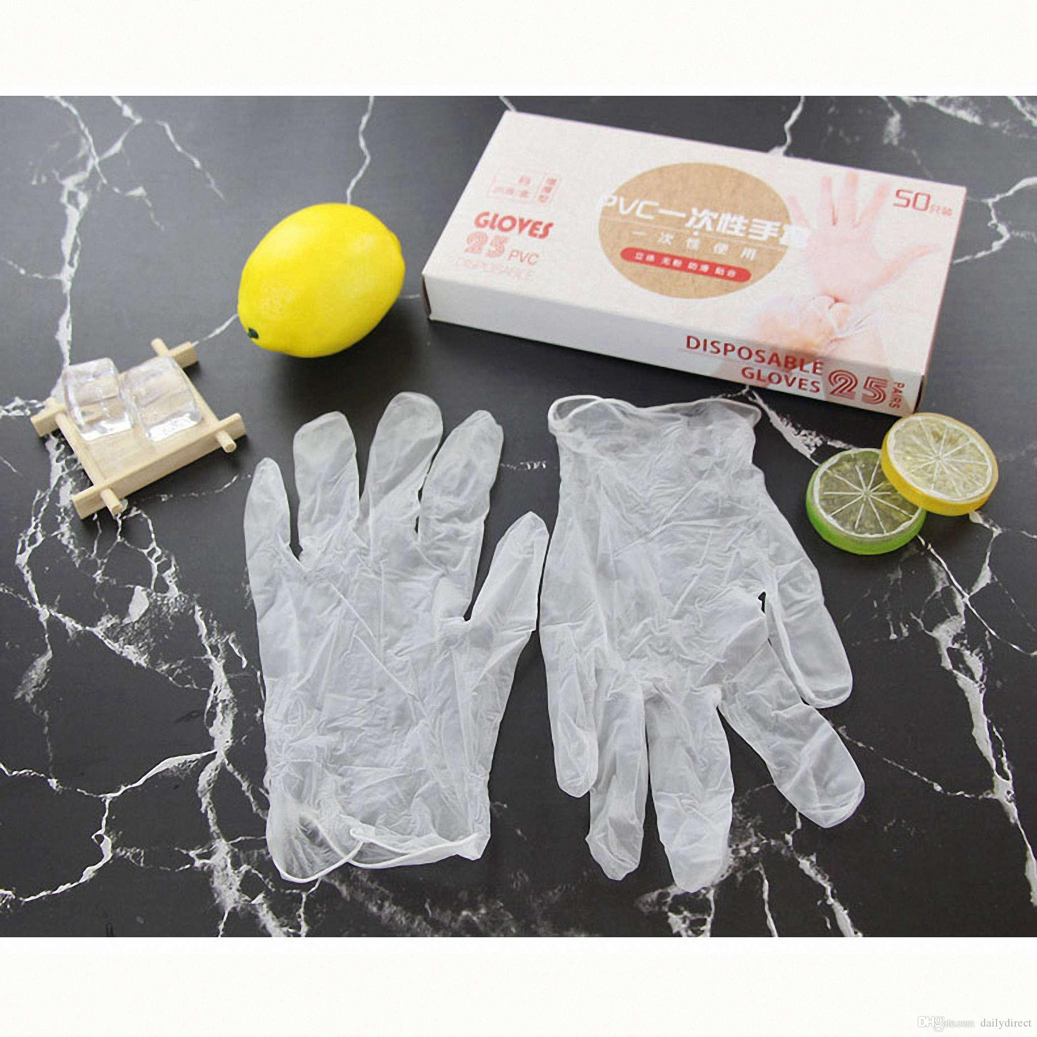 Kinds of 20pcs/lot Disposable PVC Waterproof Gloves for Household Cleaning Baking Brand New Drop Shipping