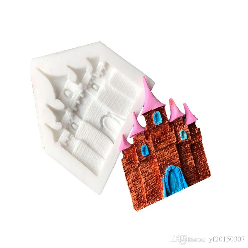 Castle Mould Cake Fondant Silicone Castle Shaped Ice Molds Fairy Tale Chocolate Mould Decoration Tool Candy Baking Tools
