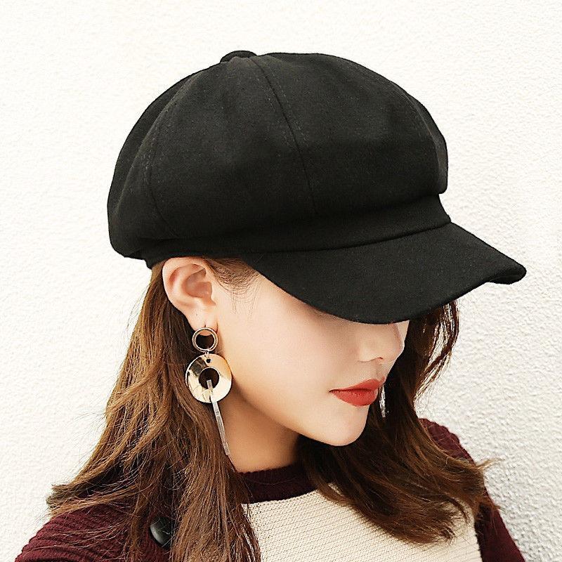 Thefound 2019 donne Classic Moda miscela calda francese Fluffy Beanie Beret Cap Hat