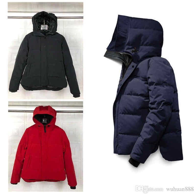 سترة homme Canada الشتاء أسفل الدافئة سترة هوديي الأسود أسفل السترات مصمم معطف فاخر الدافئة معطف الملابس Doudoune سترة