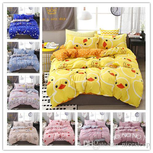 Fashion flowers printing Bedding sets High Quality Mordern Duvet Cover set Single Double King Size