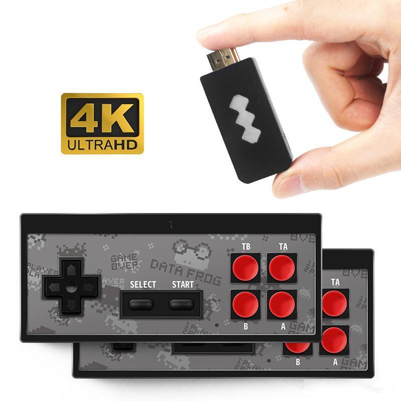 Lecteur HD 4K récent Jeu Vidéo sans fil portable manette de jeu HDMI 568 AV 600 Retro Classique Jeux sans fil Consoles Jeu Portable