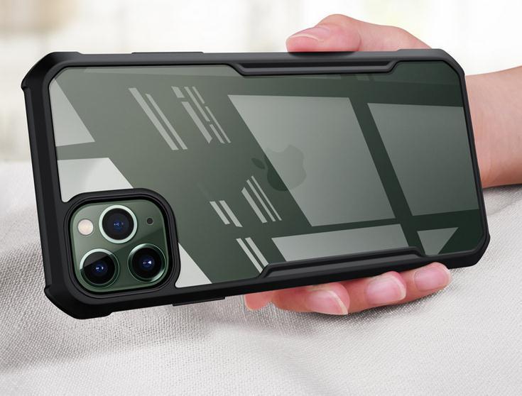 pour Apple iPhone 11 Pro Max Xs Xr 8 7 Defender hybride plus souple anti-choc Bumper dur transparent Retour Case Téléphone Housse de protection