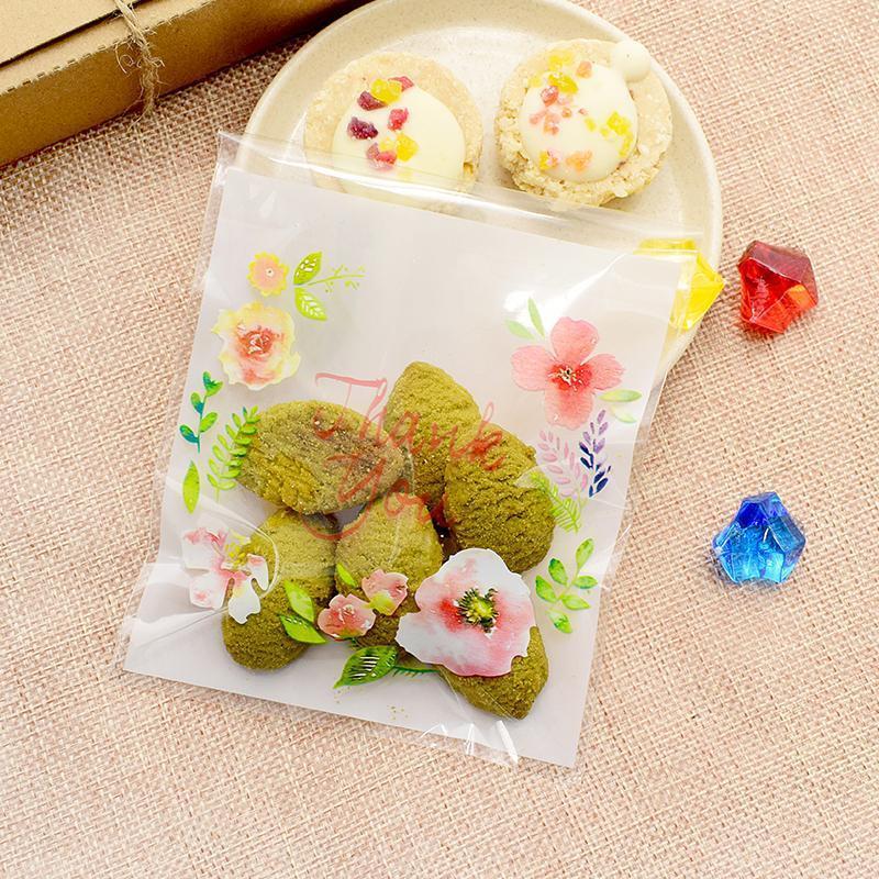 25 STÜCKE 10*10 cm DIY Backen Kunststoff Cookies Verpackung Taschen Lebensmittel Candy Geschenk Tasche Frohes Neues Jahr Weihnachten Begünstigt Lebensmittel Verpackung Tasche C18112701