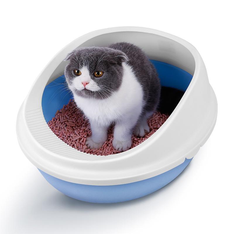 Gato de areia lavatório, vaso sanitário gato,, fora semi-fechado anti-pulverização catódica, areia de tigela, trompete, grande bacia, bacia do vaso sanitário.