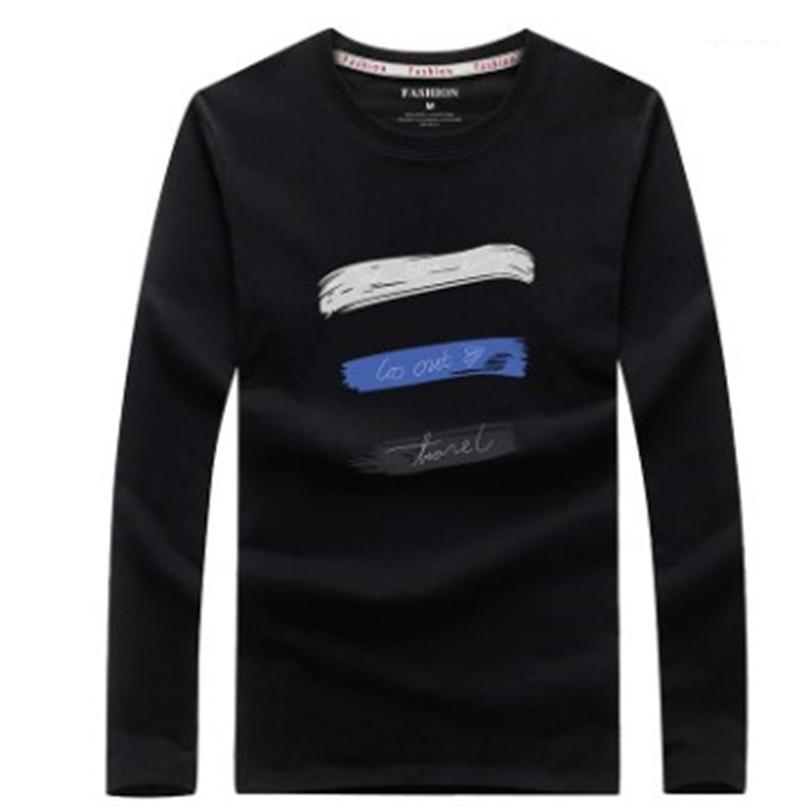 Lettera manica Stampa Maschi Abbigliamento Uomo progettista magliette Mens Moda Slim pullover girocollo T casuali lungo