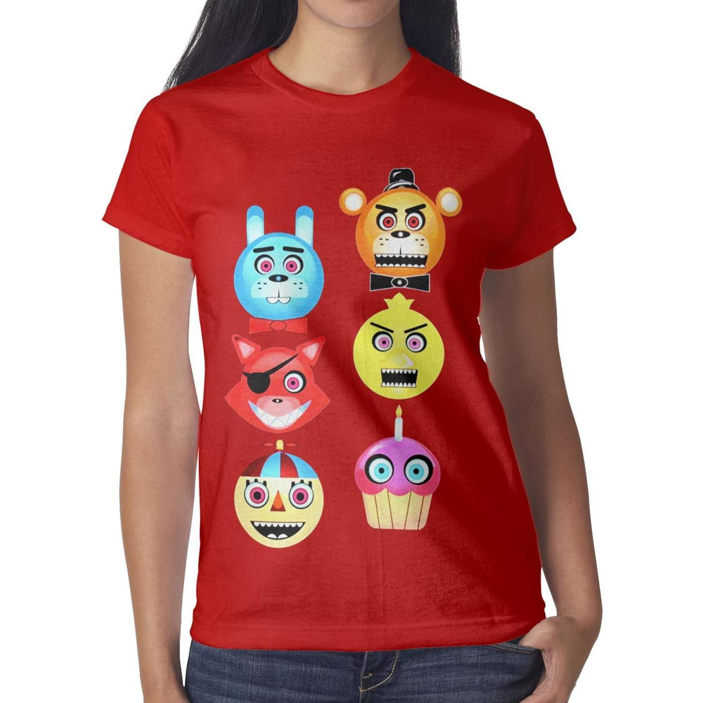 Five Nights at Freddy's Fazbear Glow in The Dark black womens t shirt,shirts,t shirts,tee shirts printing graphic crazy friends casual t sh