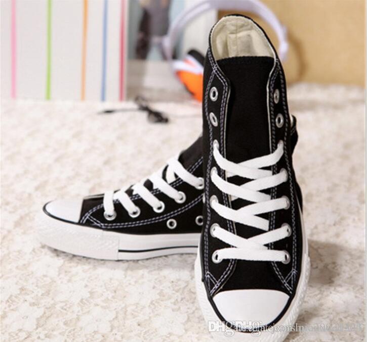 Sapatas de lona das mulheres dos clássicos da forma alta superior sapatos casuais Low Top Style estrelas do esporte chuck a sapata de lona clássico Sneakers Homens
