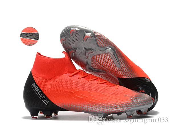 New High ankle Football Boots Mercurial Superfly CR7 ACC World Cup VI 360 Elite Neymar FG Soccer Shoes Ronaldo SuperflyX Soccer Cleats