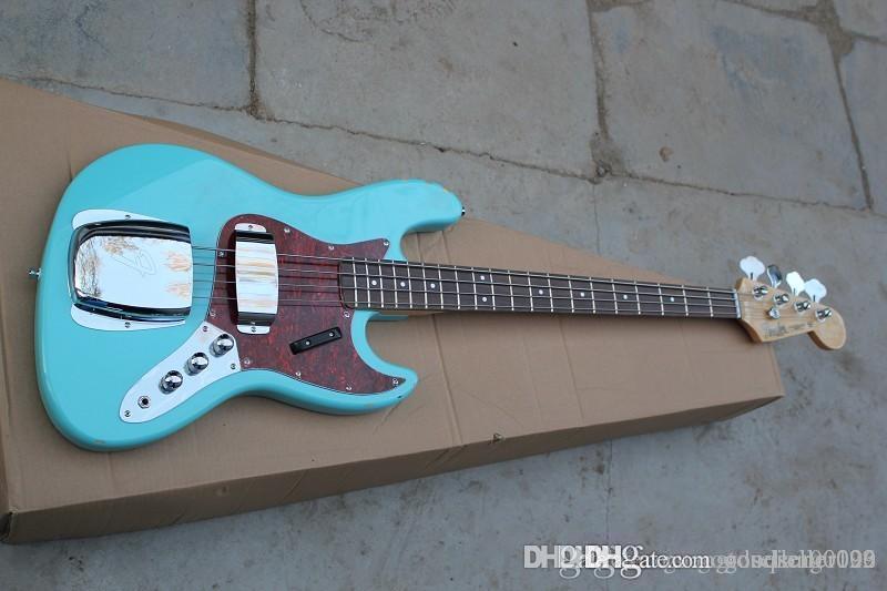 파란색 - 녹색 껍질과 새로운 4 문자열 전기베이스 픽업 밴조 전기 기타를 사용자 정의 할 수 있습니다
