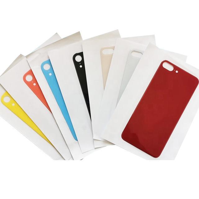 Grande buco sostituzione di vetro Back Cover per iPhone 8 8p vetro posteriore X XR XS della copertura di batteria del portello posteriore Custodia di ricambio per iPhone 11 pro Max