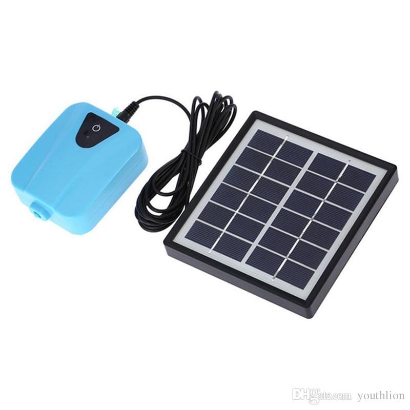 Solar Powered Air Pump DC Charging Oxygenator Fishing Air Pump Aquarium Fish Tank Water Oxygen Pond Aerator