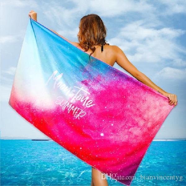 Alta qualidade 21 cores Sunscreen extragrandes lenços de seda cachecol quente e seco xale de impressão Feminino Resort Moda suave toalhas de praia made in china