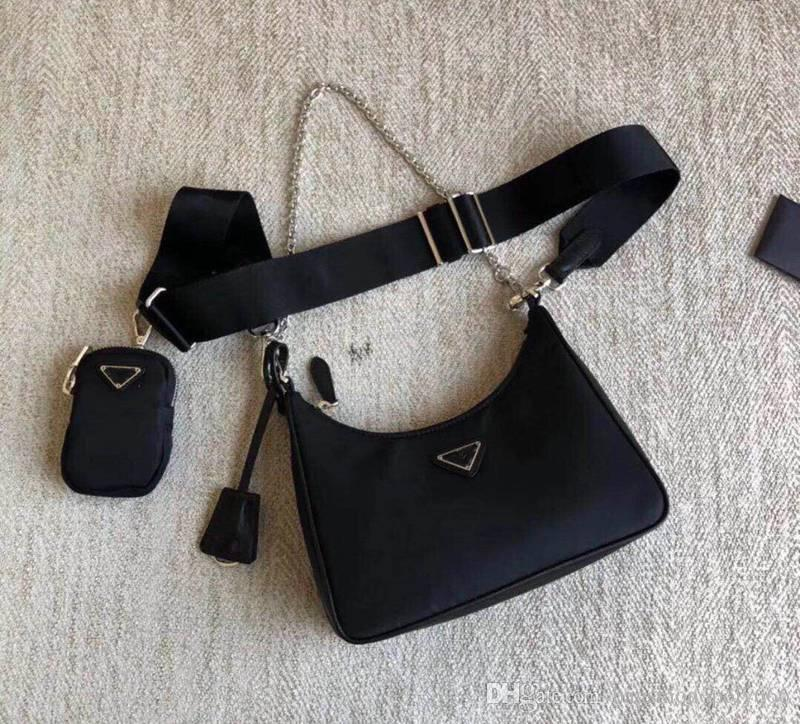 Prada Deisigner bandolera para mujeres pecho dama bolsas de cadenas bolsos de los bolsos del diseñador del bolso del mensajero bolso de la lona al por mayor de la presbicia
