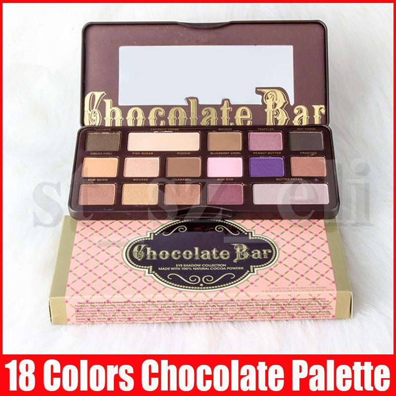 Face Eye Makeup Chocolate Eyeshadow Palette 16colors 18colors Matte Shimmer Peach Eye Shadow Palettes 3 Styles
