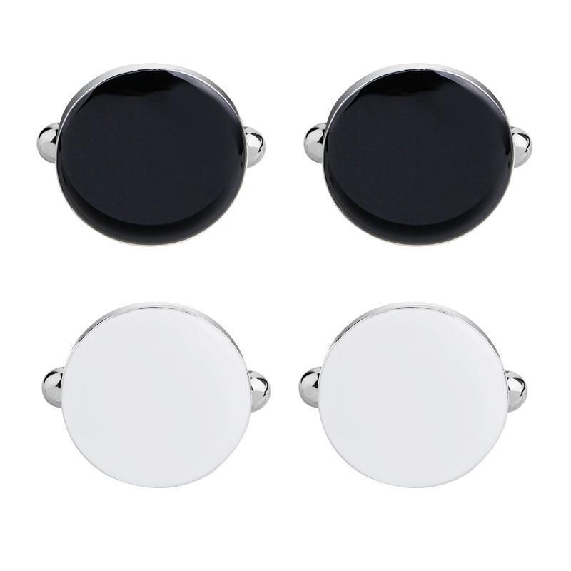 Мужские белые и черные запонки и гвоздики для смокинга Классическая рубашка Свадебные аксессуары для деловых вечеринок