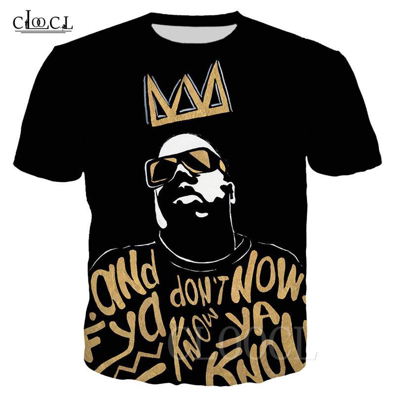2020 New Rapper T-Shirts Biggie Smalls 3D-Druck Unisex T-Shirt Männer Kleidung kreative kurze Hülse Hip Hop Street T Tops S-5XL