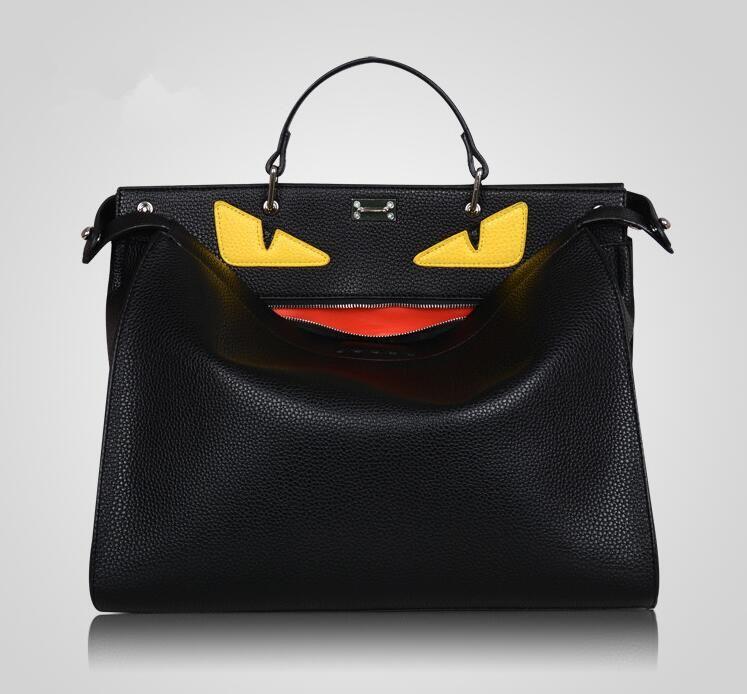 디자이너 핸드백 여성 가방 디자이너 대형 몬스터 가방 남성 여성 고품질의 가죽 블랙 토트 유명한 남성 노트북