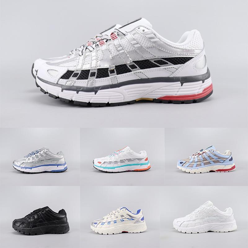 Triple Black White Platinum Tint P-6000 Scarpe da corsa leggera Aqua laser blu Gioventù Femminile Desinger della scarpa da tennis P6000 scarpe da basket