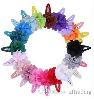 22 colors Korean flower candy color hairclip baby girls star fashion cloth BB hairpin cute hair accessories
