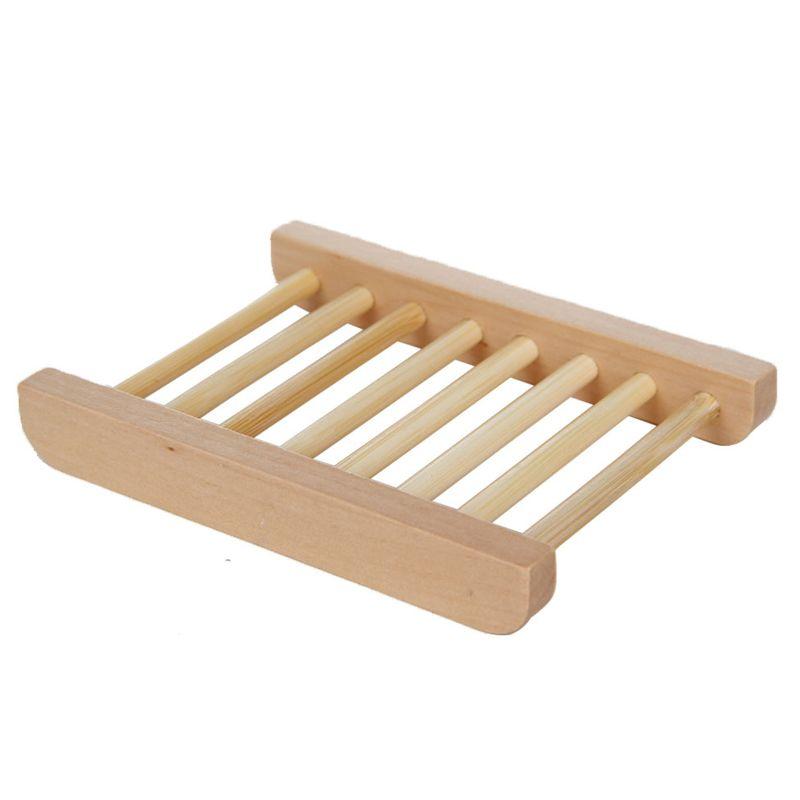 Оптовая продажа натурального бамбука домашнего использования деревянный держатель для хранения мыльницы деревянное ремесло ванная комната мыльница мыльница коробка контейнер DH0179