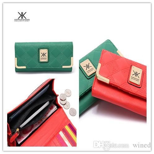 Nuovo modo caldo !!! donne calde solido in pelle di colore Ricama Zipper Mini moneta borsa del portafoglio